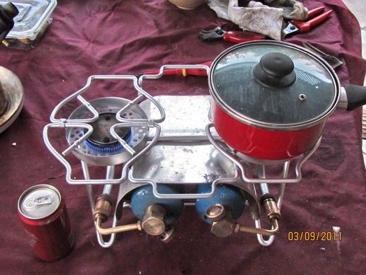 Vintage Bernzomatic Single Burner Stove Propane Cook Camp Camping Outdoor Tx550 1884636848