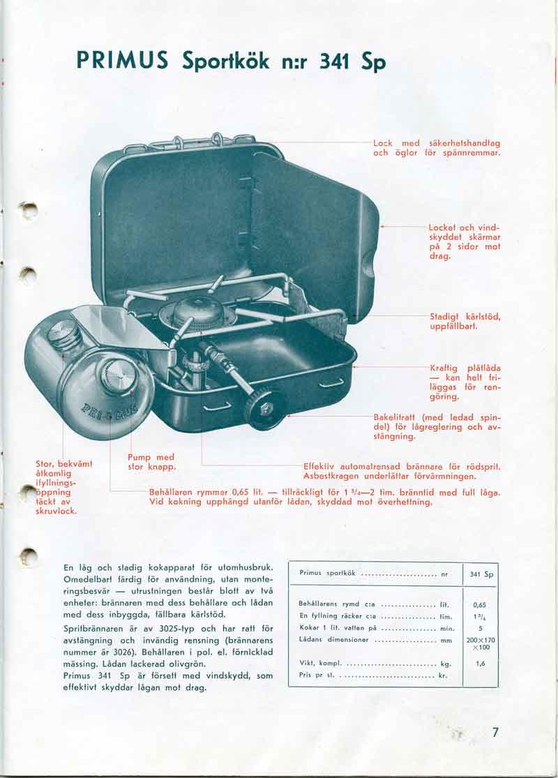 1941 Primus 41 Silent/Nickel w/box | Classic Camp Stoves